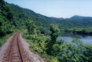 JR宗谷本線・筬島駅~佐久駅間(北海道:2001年6月)