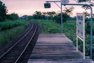 JR宗谷本線・上雄信内駅(廃駅)(北海道:2001年6月)
