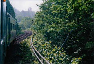JR石北本線・中越駅(廃駅)~上越信号場間(北海道:2001年6月)