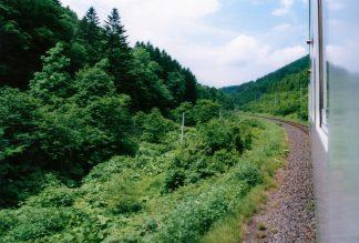 JR石北本線・常紋峠(北海道:2001年6月)