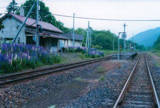 JR石北本線・中越駅(廃駅)(北海道:2001年6月)