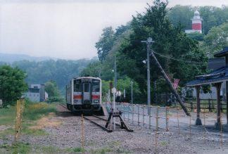 JR留萌本線・増毛駅(廃駅)(北海道:2001年6月)