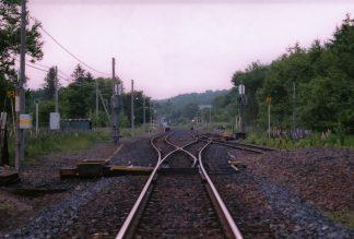 JR石北本線・奥白滝駅(廃駅)(北海道:2001年6月)