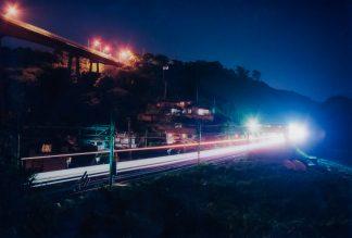 JR信越本線・青海川駅(新潟県:2001年8月)