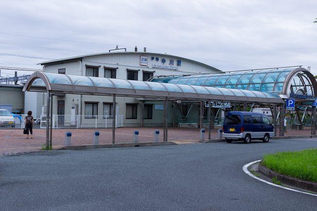 東青山駅から1時間ほど走って、伊勢中川駅に到着