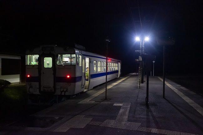大畑駅で乗降する乗客は居なかった
