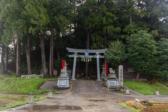能登鹿島駅の駅名の由来ともなった鹿島神社