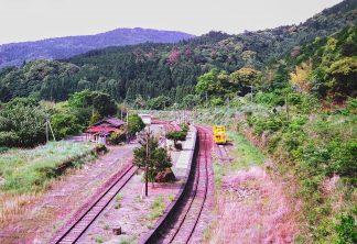 JR肥薩線・真幸駅(宮崎県:1999年8月)