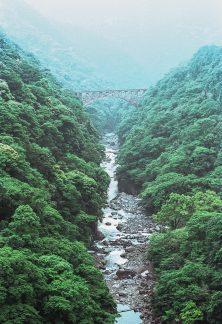 南阿蘇鉄道・白川橋梁(熊本県:1999年8月)
