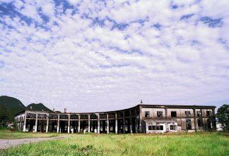 JR久大本線・豊後森駅(大分県:1999年8月)