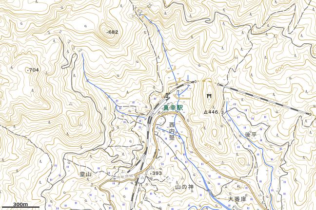 地形図:真幸駅周辺