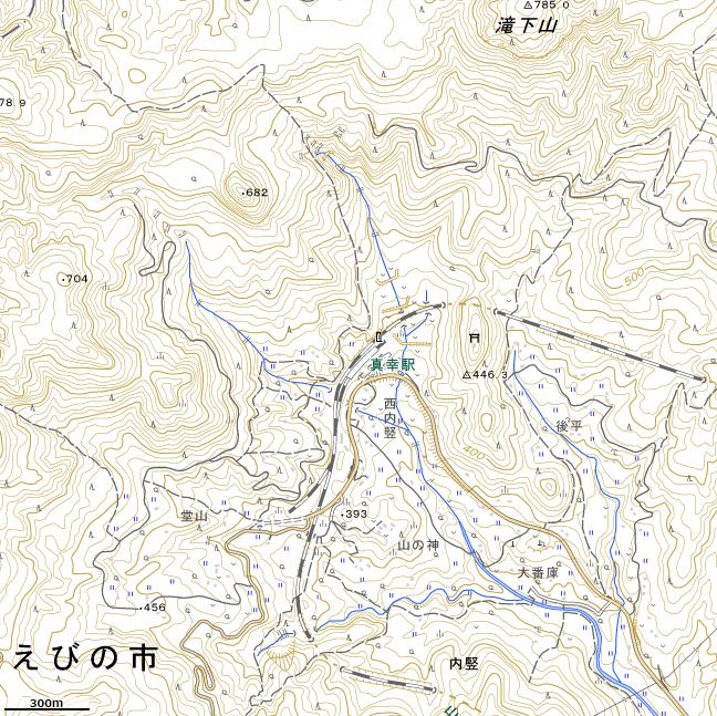 地形図:真幸駅周辺広域図