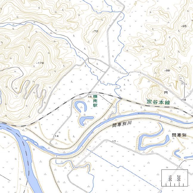 地形図:糠南駅周辺広域図