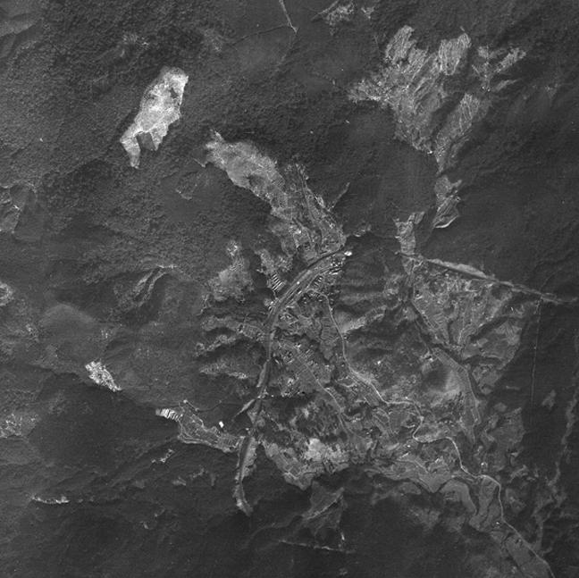 旧版空撮画像(1947/01/25(昭22)):真幸駅周辺図