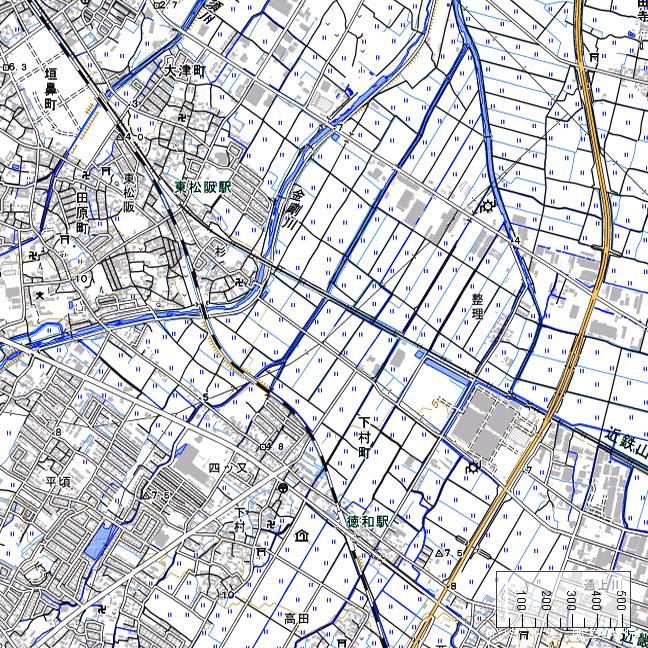地形図:東松阪駅周辺