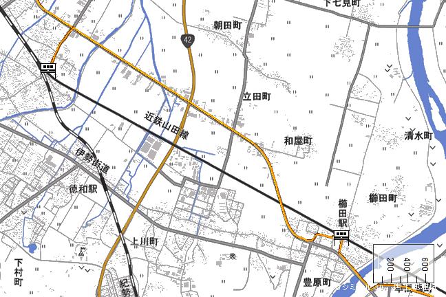 ルート図:東松阪~櫛田間