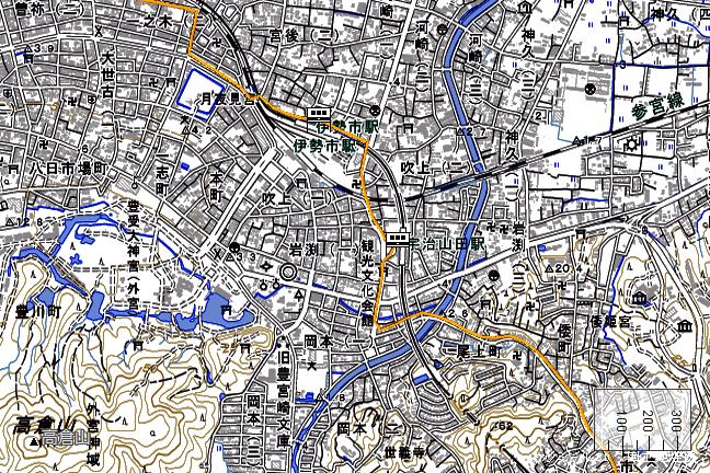 ルート図:伊勢市~宇治山田間