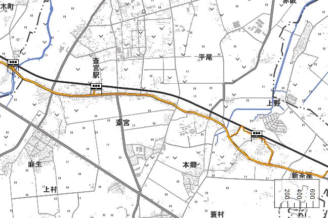 ルート図:斎宮~明星間