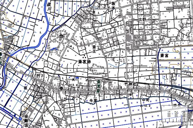 地形図:斎宮駅周辺