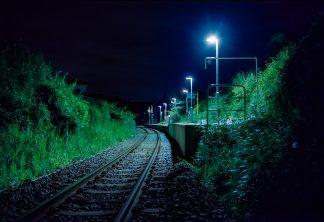 JR烏山線・滝駅(栃木県:2001年8月)