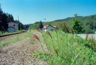 JR花輪線・安比高原駅(岩手県:2001年8月)