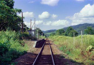 JR宗谷本線・紋穂内駅(北海道:2001年8月)