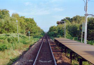 JR宗谷本線・初野駅(北海道:2001年8月)