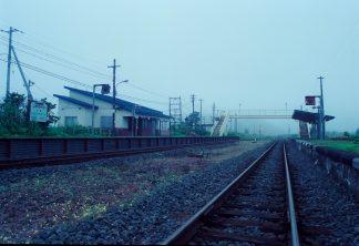 JR根室本線・尺別駅(北海道:2001年8月)