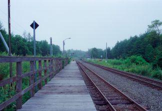 JR根室本線・古瀬駅(北海道:2001年8月)