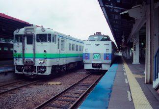 JR石北本線・網走駅(北海道:2001年8月)