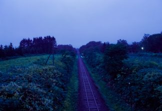 JR札沼線・豊ヶ岡駅(北海道:2001年8月)