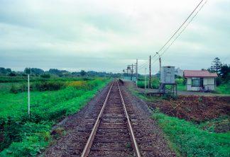 JR札沼線・知来乙駅(北海道:2001年8月)