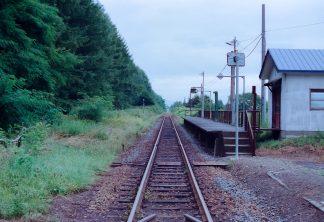 JR札沼線・札的駅(北海道:2001年8月)
