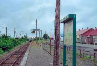JR札沼線・晩生内駅(北海道:2001年8月)