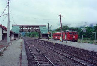 JR根室本線・落合駅(北海道:2001年8月)