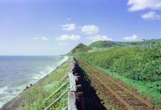 JR日高本線,大狩部駅(北海道:2001年8月)