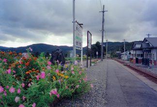 JR江差線・湯ノ岱駅(北海道:2001年8月)