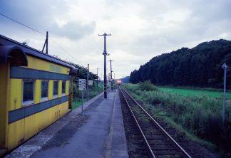 JR江差線・吉堀駅(北海道:2001年8月)