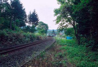 JR江差線・神明駅(北海道:2001年8月)