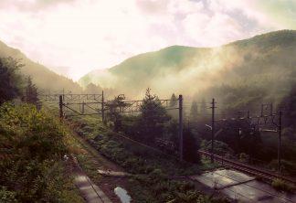 JR奥羽本線・赤岩駅(福島県:2001年8月)