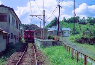くりはら田園鉄道・細倉マインパーク駅(宮城県:2001年8月)
