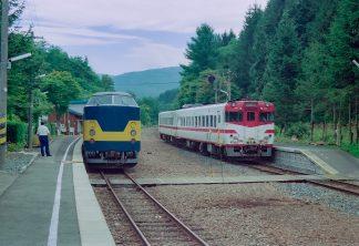 JR山田線・区界駅(岩手県:2001年8月)