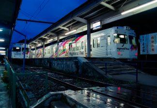 アルピコ交通上高地線・新島々駅(長野県:2001年8月)