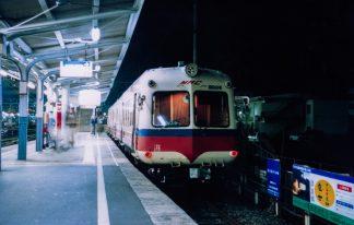 アルピコ交通上高地線・松本駅(長野県:2001年9月)