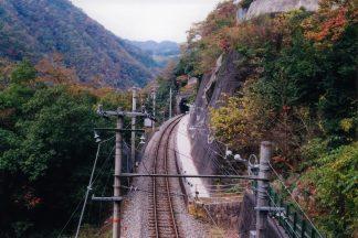 JR飯田線・田本駅(長野県:2001年11月)