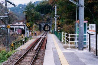 JR飯田線・唐笠駅(長野県:2001年11月)