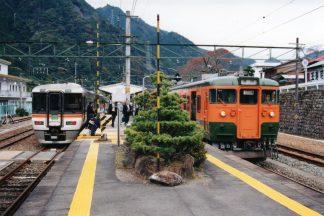 JR飯田線・中部天竜駅(静岡県:2001年11月)