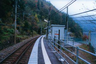 JR飯田線・為栗駅(長野県:2001年11月)