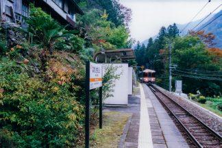 JR飯田線・中井侍駅(長野県:2001年11月)