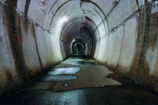 JR飯田線・大嵐駅付近・旧夏焼第二隧道(静岡県:2001年11月)